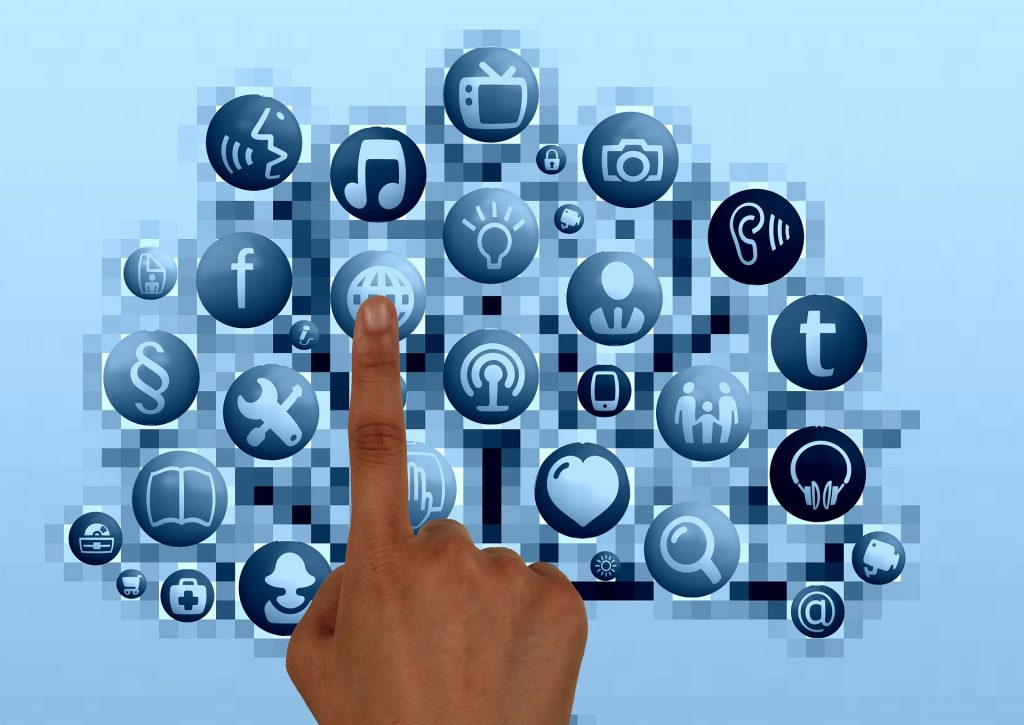 Dedo Toque Mano Estructura Internet Red Social
