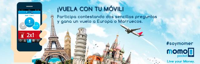 concurso momo pocket - sorteo bonos viaje europa y marruecos