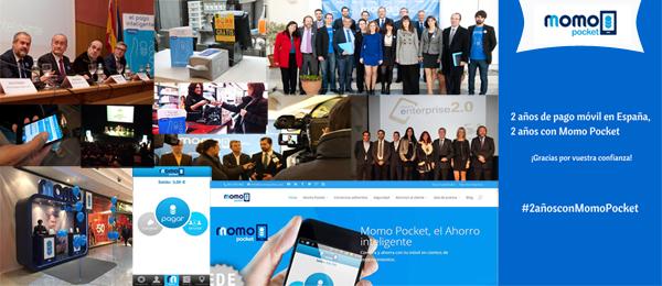 Dos años de pago móvil. dos años de Momo Pocket